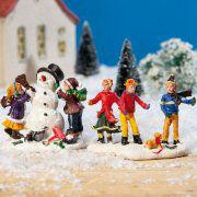 """Lichthäuser Miniaturfiguren Set """"Kinder im Schnee"""""""