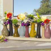 "Keramikvasen ""Papillon"", Blütenstecker Tischdekoration"