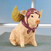 Glücksschwein-Spardose, lustiges Sparschwein mit Flügeln