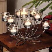 Lichterkranz Lotusblume, Kerzenhalter Winterdeko