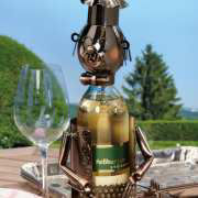 Weinflaschenhalter Grillmeister, Metall Flaschenständer