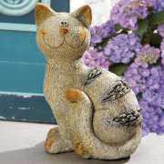 "Tierfigur ""Katze Lulu"", Skulptur zur Gartendekoration"