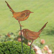 "Gartenstecker ""Vogel"", Gartendekoration in Rostoptik"