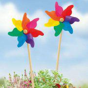 """Windspiel """"Regenbogen"""", Gartenstecker zur Gartendekoration"""