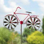 """Windspiel """"Fahrrad"""", Gartenstecker zur Gartendekoration"""