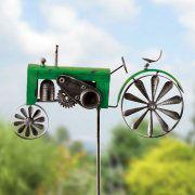 """Windspiel """"Traktor"""", Gartenstecker zur Gartendekoration"""
