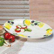 """Servierplatte """"Toscana"""", mit Reliefdekor """"Zitrone & Olive"""""""