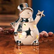 """Windlicht """"Schneemann"""", Weihnachtsbeleuchtung mit LED"""