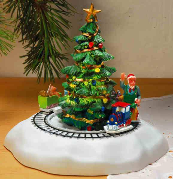 keramik miniaturfigurenset weihnachtsbaum mit zug und. Black Bedroom Furniture Sets. Home Design Ideas