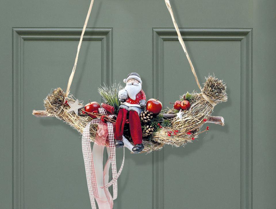 T rh nger zopf weihnachtsdeko mit weihnachtsmann - Weihnachtsdeko innen ...