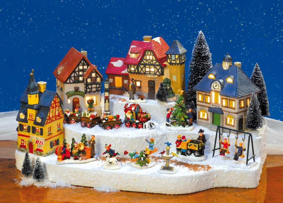 Lichthauser Weihnachtsdeko Set Kleine Stadt