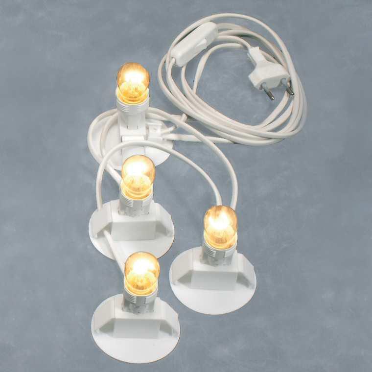 4-fach Beleuchtung für Lichthäuser
