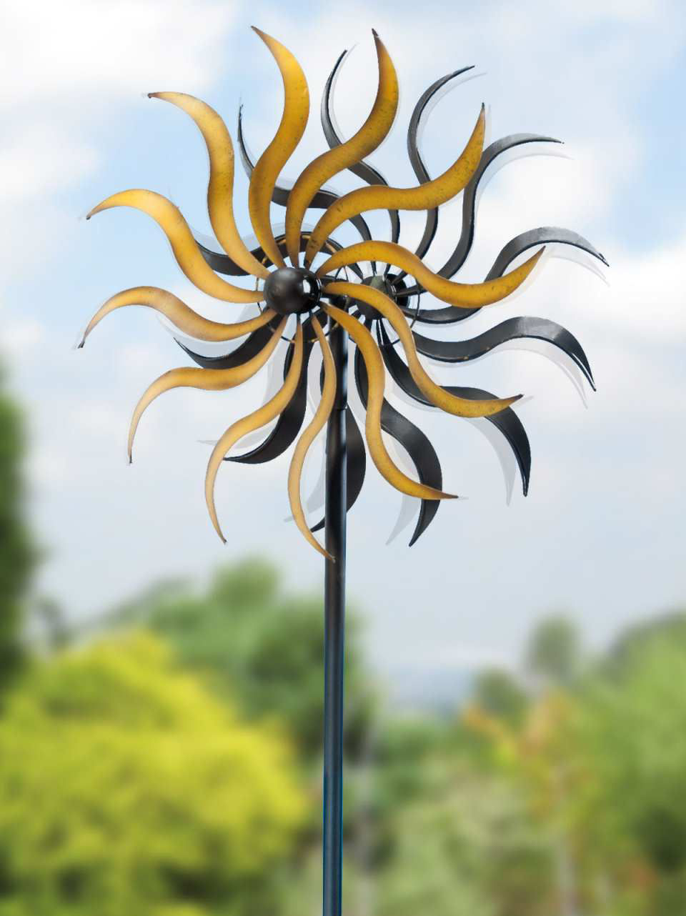 "Windrad ""Sonne"", Windspiel Gartendekoration"