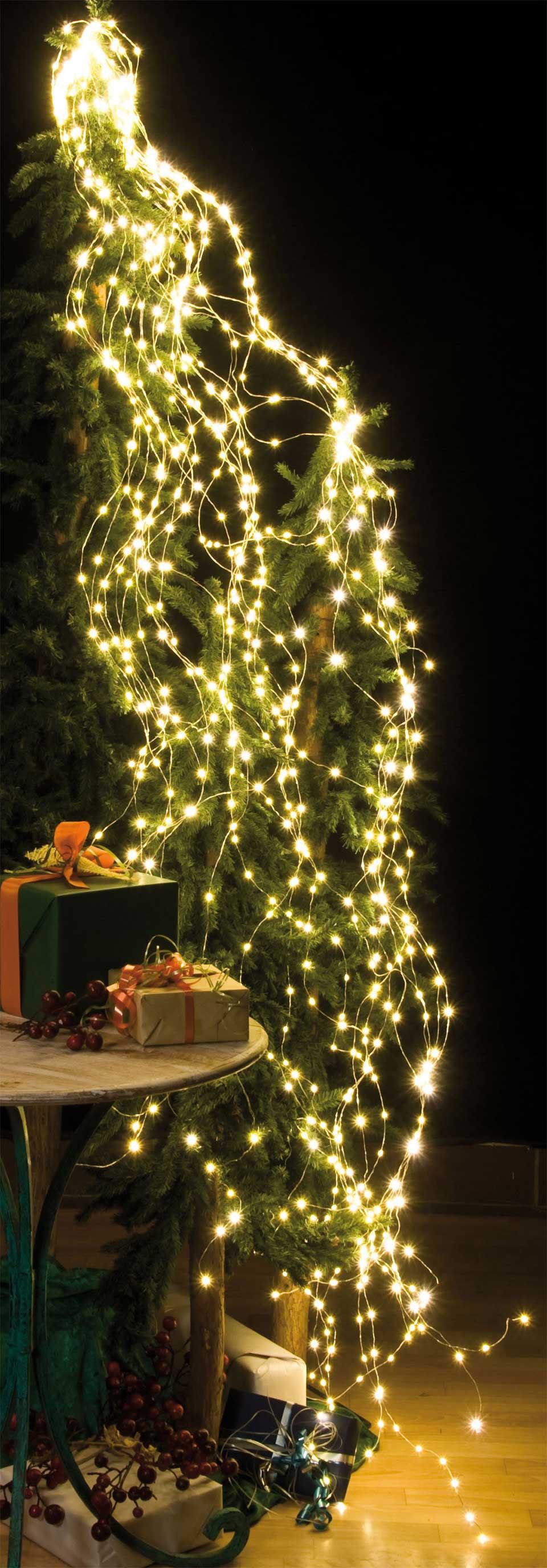 Weihnachtsdeko Lichterketten Außen.Led Lichterkette Weihnachtsdeko Kaskade