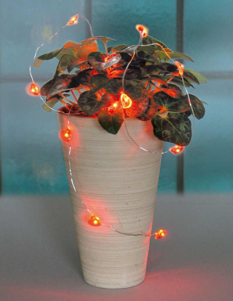 Led lichterkette weihnachtsdeko 12 rote herzlichter - Rote weihnachtsdeko ...