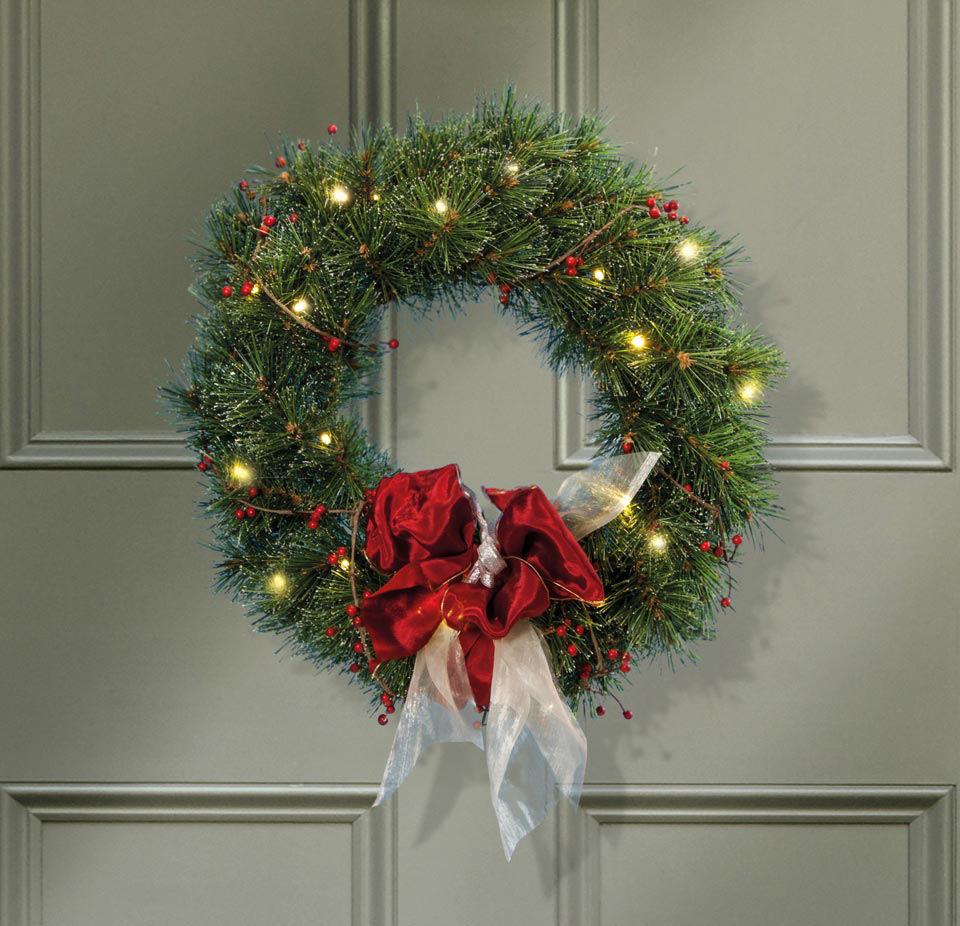 t rkranz wintertanne weihnachtlicher wanddeko kranz. Black Bedroom Furniture Sets. Home Design Ideas
