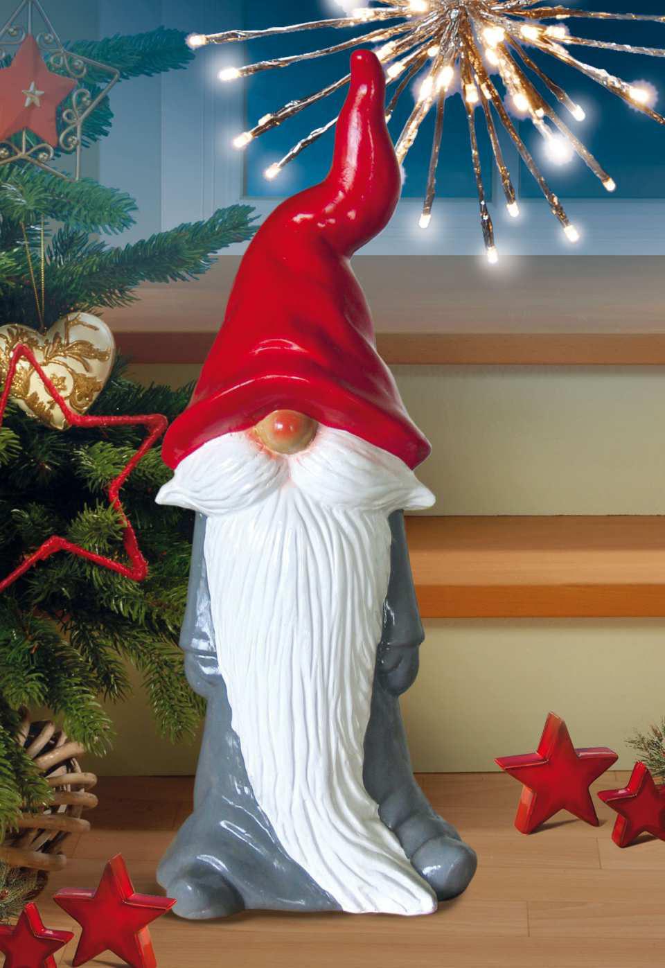 """Weihnachtsfigur """"Schlafmützen-Wichtel"""" aus Keramik"""